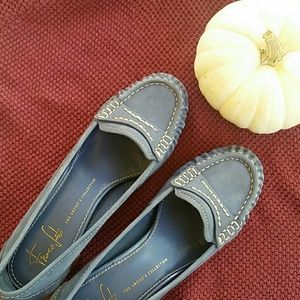 Franco Sarto Block Heel Loafers